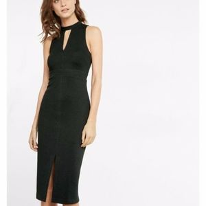 Express Textured Sleeveless Midi Dress